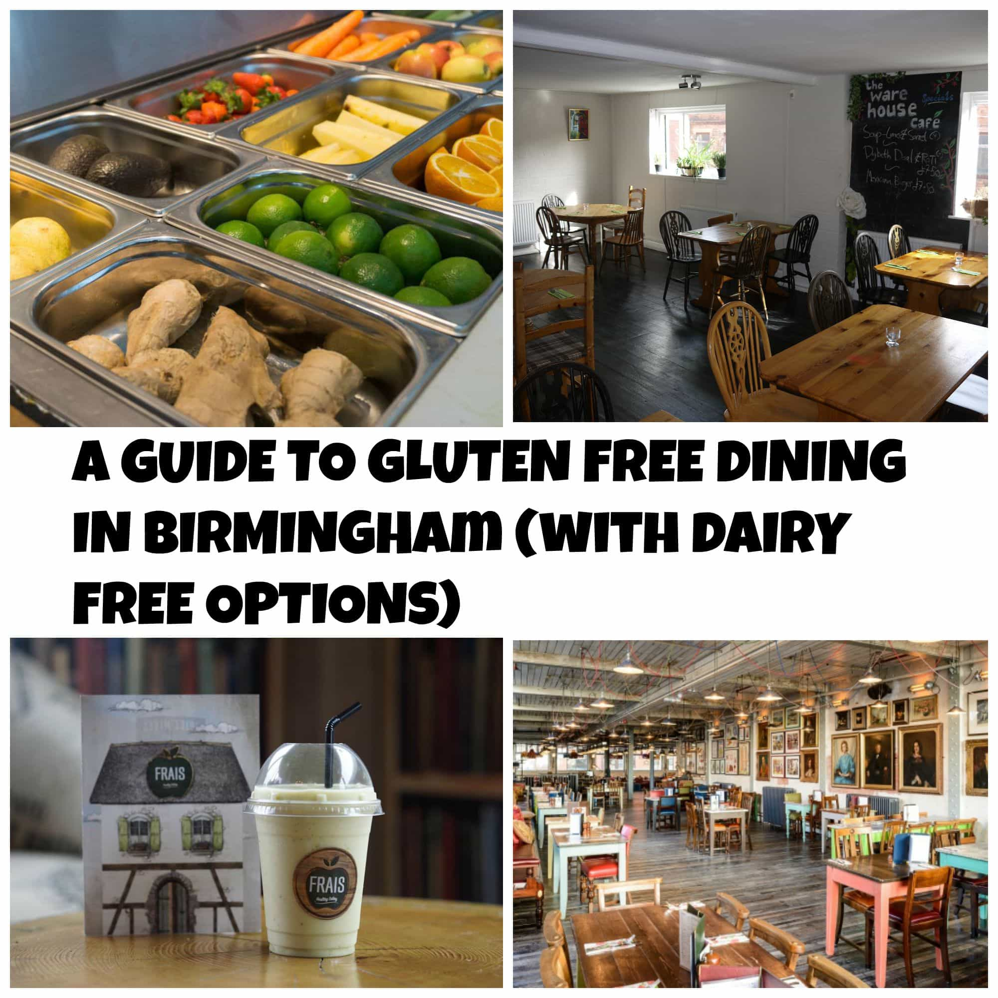 A guide to gluten free Birmingham with lots of dairy free options. If you are looking for gluten free restaurants in Birmingham, this guide is for you!