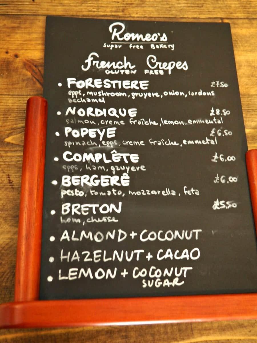 sugar free desert london, romeo's gluten free bakery, romeo's sugar free bakery, la polenteria, la polenteria review, gluten free london, gluten and dairy free london, free from london, gluten free pasta london, sugar free london
