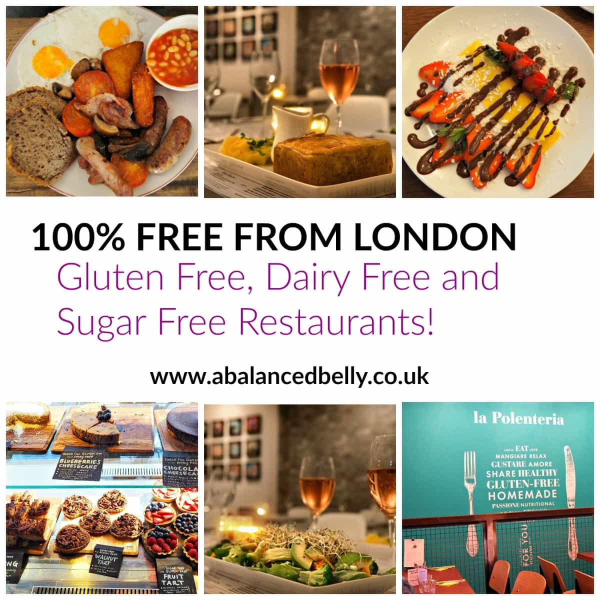 A guide to gluten free London. Everything you need to know about gluten free and dairy free in London.