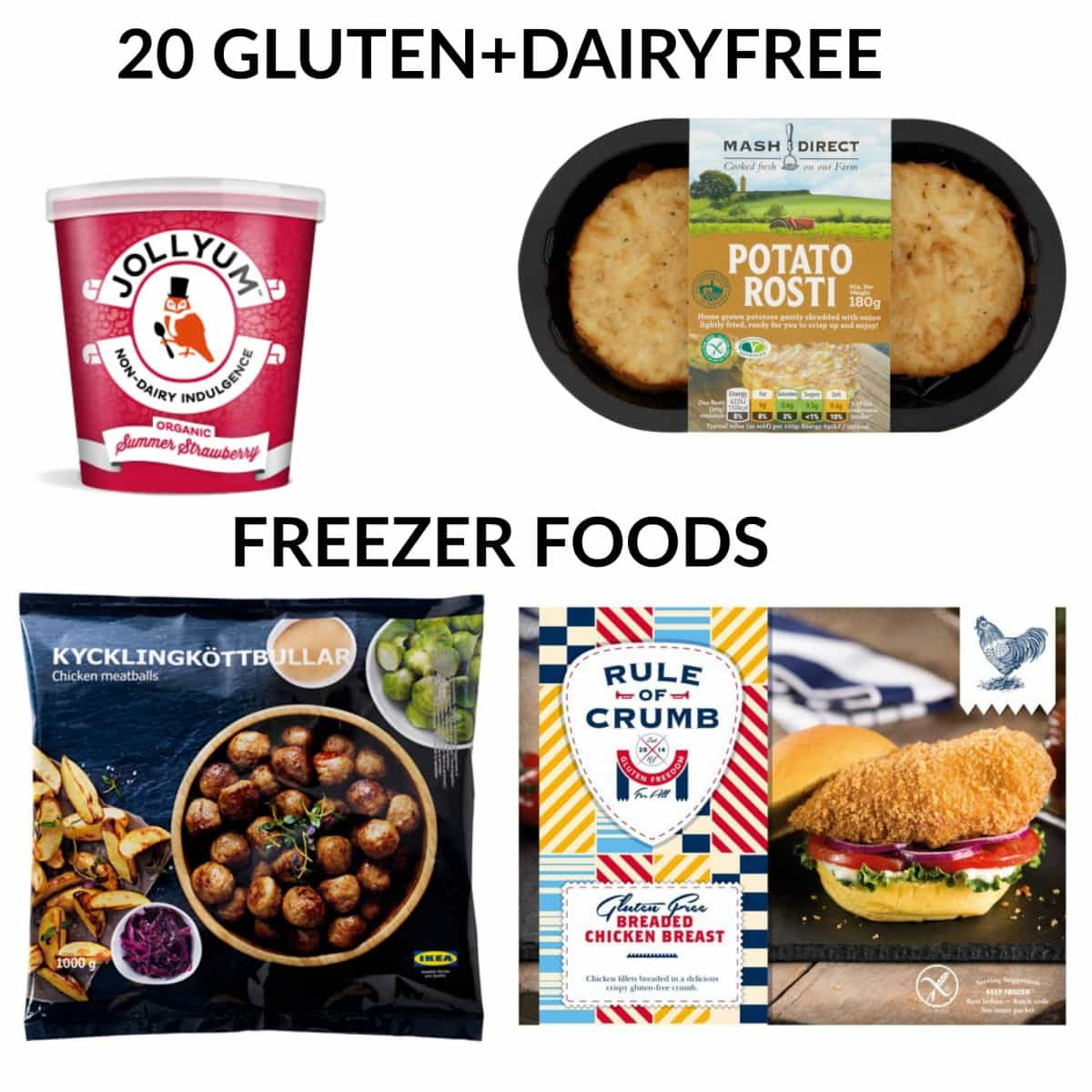 A guide to the best dairy free and gluten free freezer foods. Perfect to keep in the freezer, these gluten free freezer foods are great for last minute cooking!