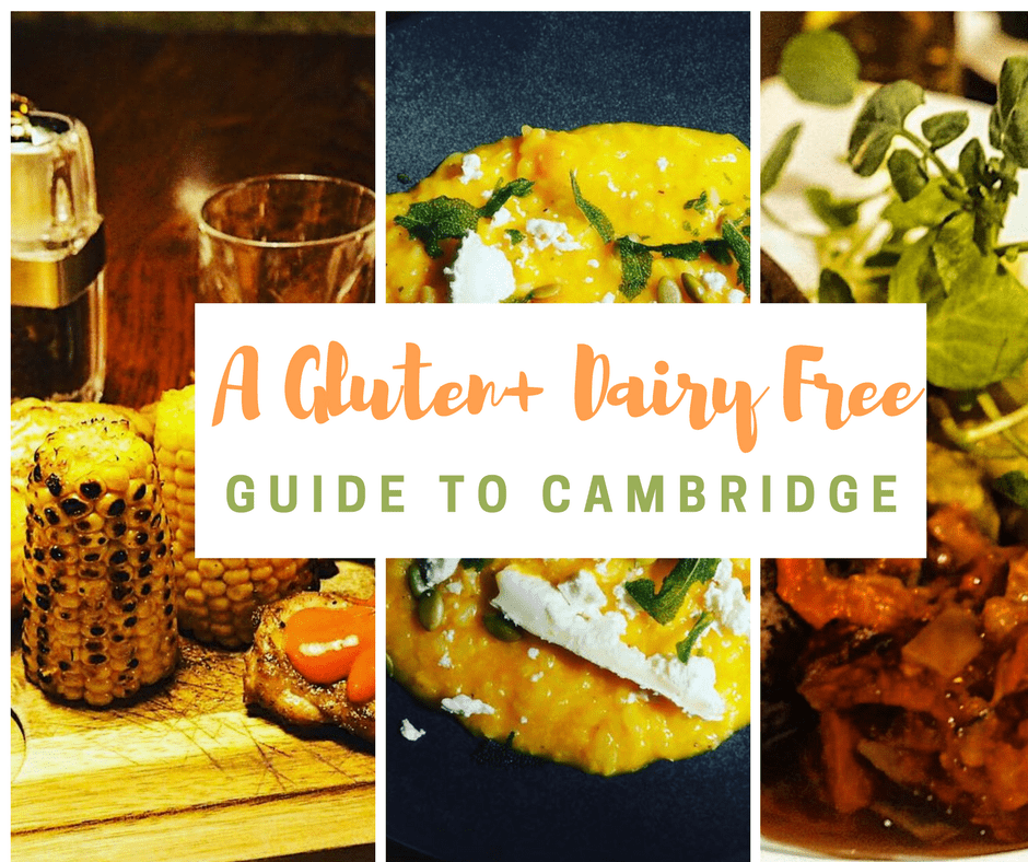 Visiting Cambridge? checkout this gluten free Cambridge guide with advice on gluten free restaurants in Cambridge and dairy free restaurants in Cambridge!